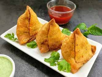 2 Vegetable Samosas Plate